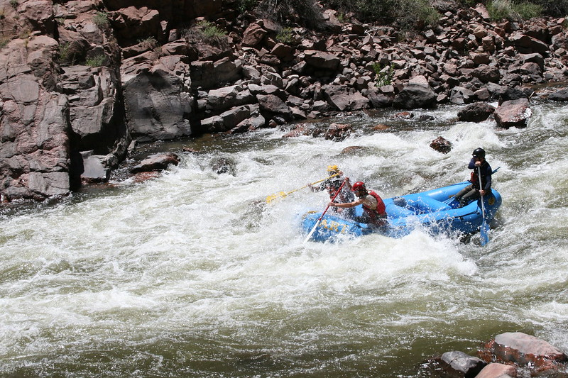 white water rafting, arkansas river.