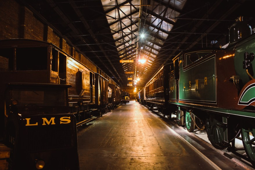 trains at the national railway museum, family friendly cities england