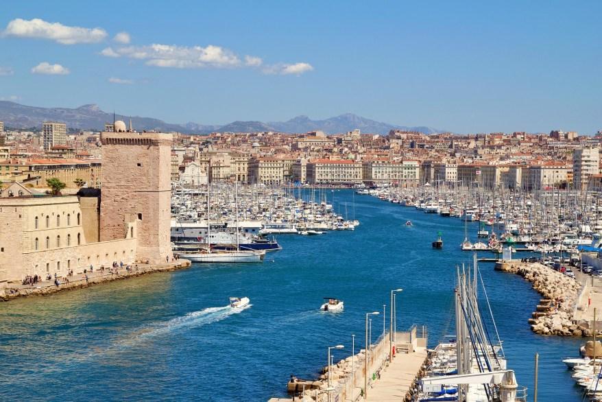 the Marseille sea port