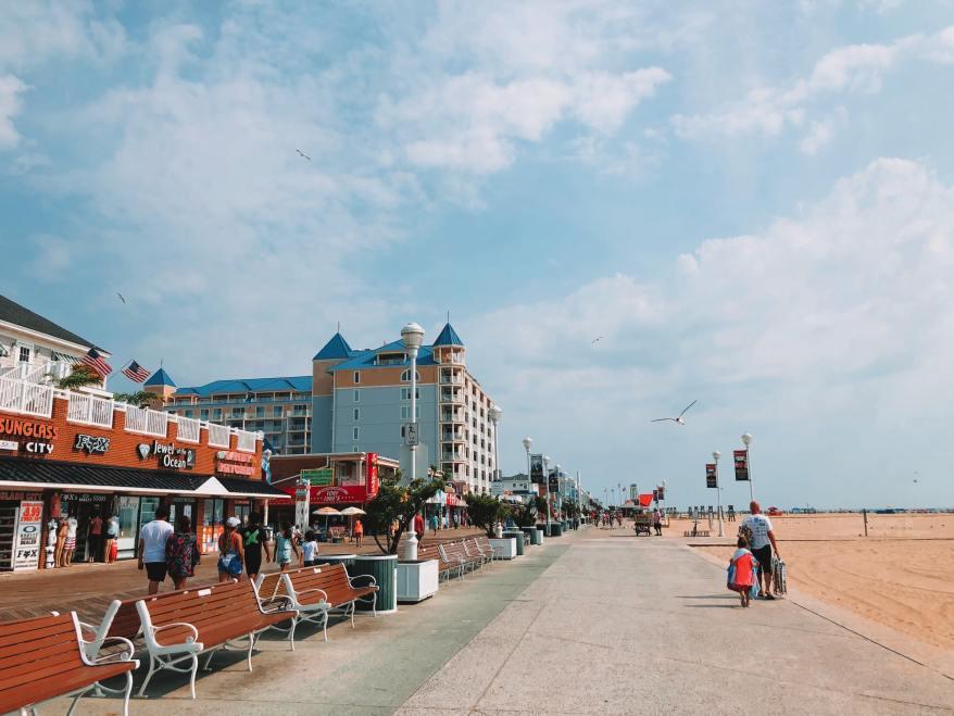 Ocean City boardwalk, ocean city with kids
