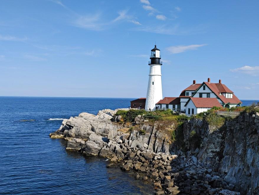 the portland head lighthouse, maine coast road trip