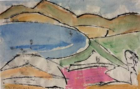 John Emanuel - Reclining Figure In a Landscape - £230
