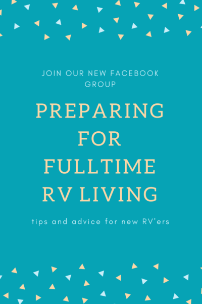 Preparing to full time RV group