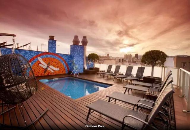 pool at Hotel Ciutat de Barcelona Spain