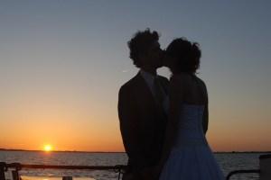 wedding ceremony on a boat sailing around amsterdam with navigo