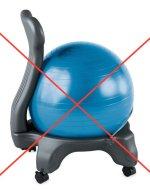 exercise ball on chair legs