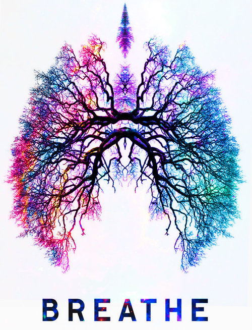 breathing colourful lungs