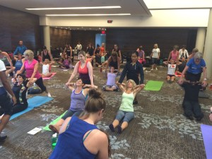 Thai yoga stretching session canfitpro conference