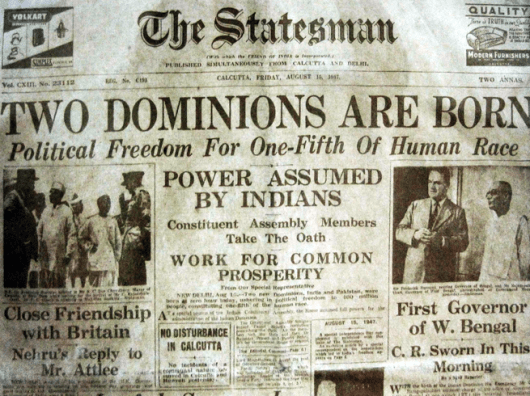 15 August 1947 The Statesman