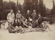 Jim Corbett with Hunters