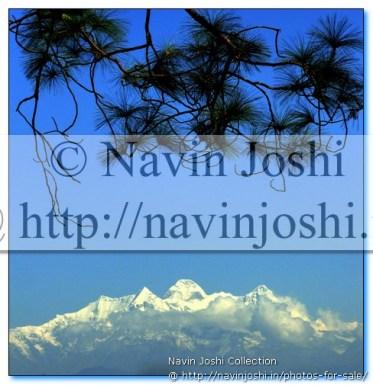 Nanda Devi Peaks on Himalayas