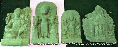 दुर्लभ सूर्य, विष्णु एवं भगवान गणेश की प्रतिमाएं।