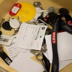 Nøgler glemt i toget. Foto: Shideh Morovati