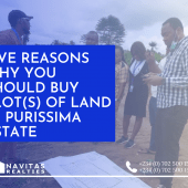 Five Reasons Why You Should Buy Plot(s) Of Land in Purissima Estate
