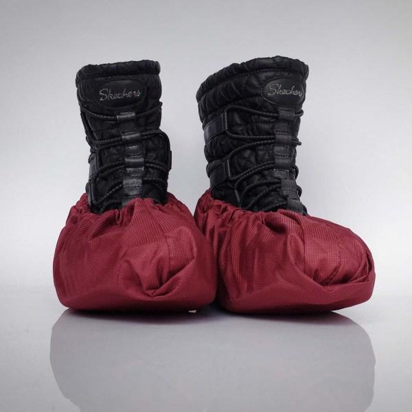 Návleky na topánky / bordové