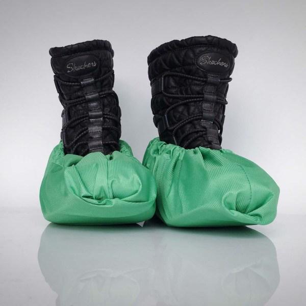 návleky na topánky / zelené