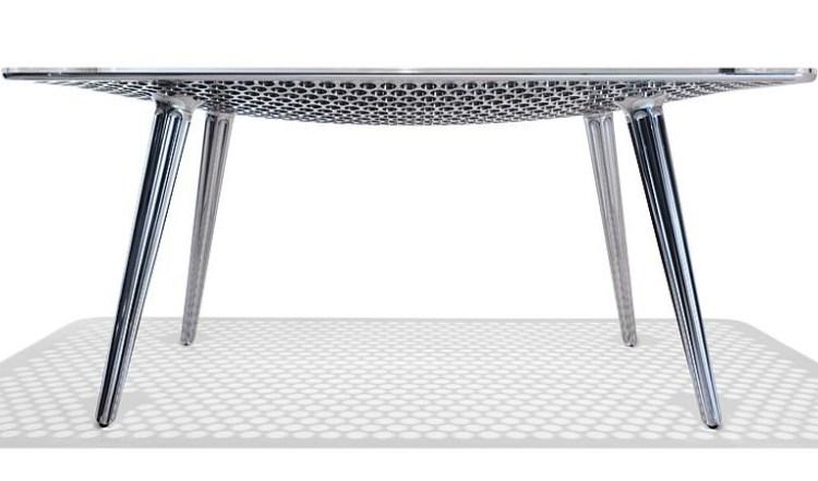 Современный металлический стол