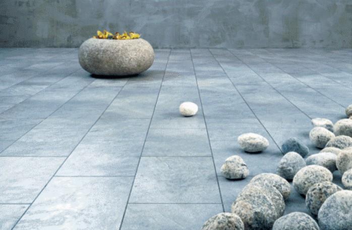 Уложенная каменная плитка.