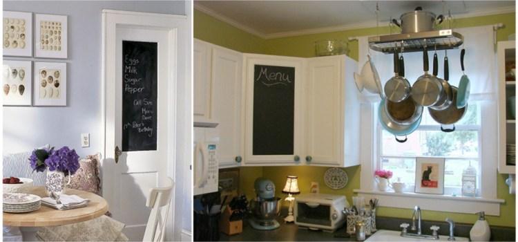 применениемагнитной краски на кухонном фасаде.