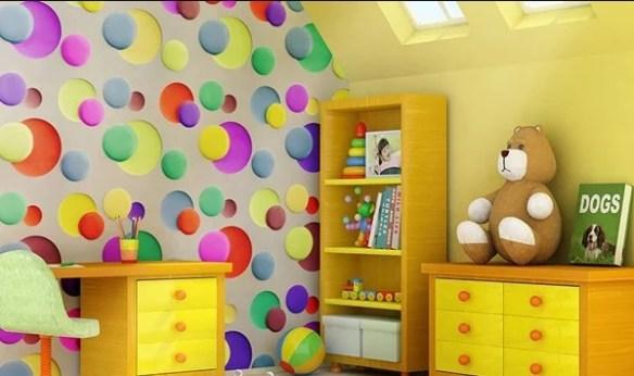 В детских комнатах отлично подходят узорчатые украшения Фото