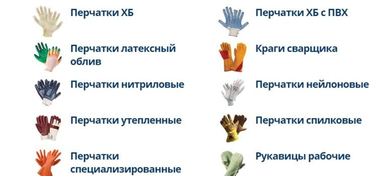 Рабочие перчатки — надежная защита рук