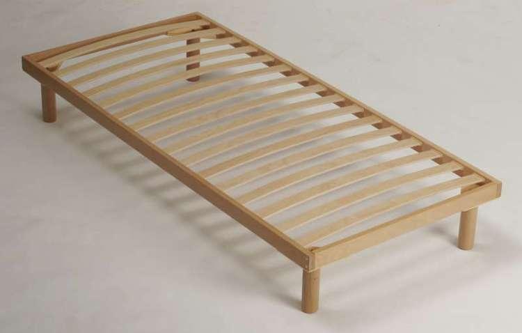 каркас для кровати с ламелями деревянный