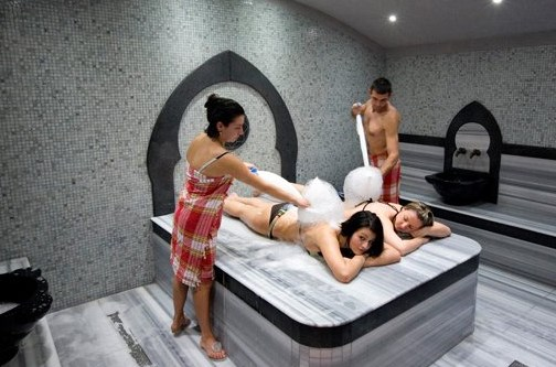 Расслабляющий массаж в хамаме