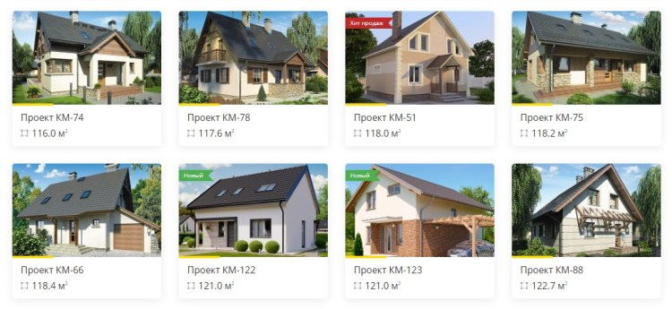 projects of houses with attic
