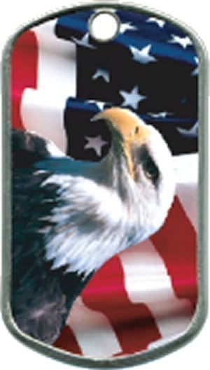 American Eagle Custom Artwork Military Dogtag