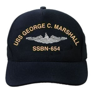 SSBN 654 USS George C Marshall Embroidered Hat
