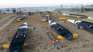 Τα σκάφη με τα οποία θα αγωνιστούν οι αθλητές στην Πεσκάρα