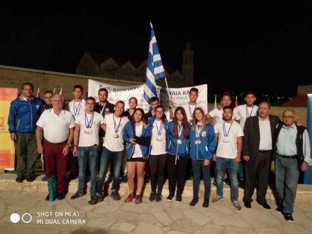 Δεκαεννέα μετάλλια οι Έλληνες σε διεθνή αγώνα στην Κύπρο