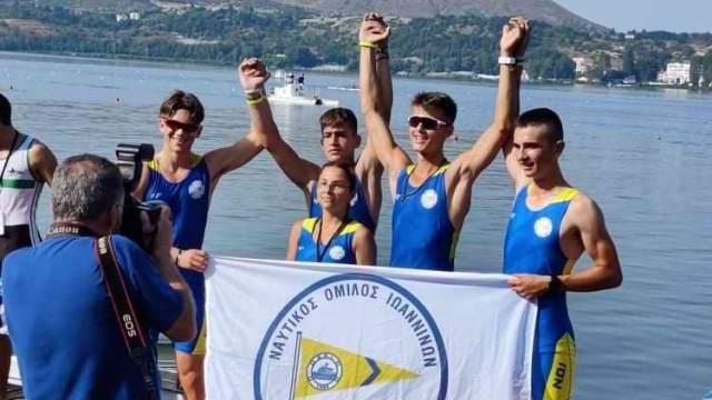 87ο Πανελλήνιο Πρωτάθλημα Κωπηλασίας: Ο Ν.Ο. Ιωαννίνων πολυνίκης στην Παίδων-Κορασίδων
