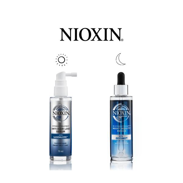 NIOXIN kit anti-hair loss serum + night density rescue