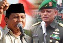 Prabowo Subianto dan Gatot Nurmantyo