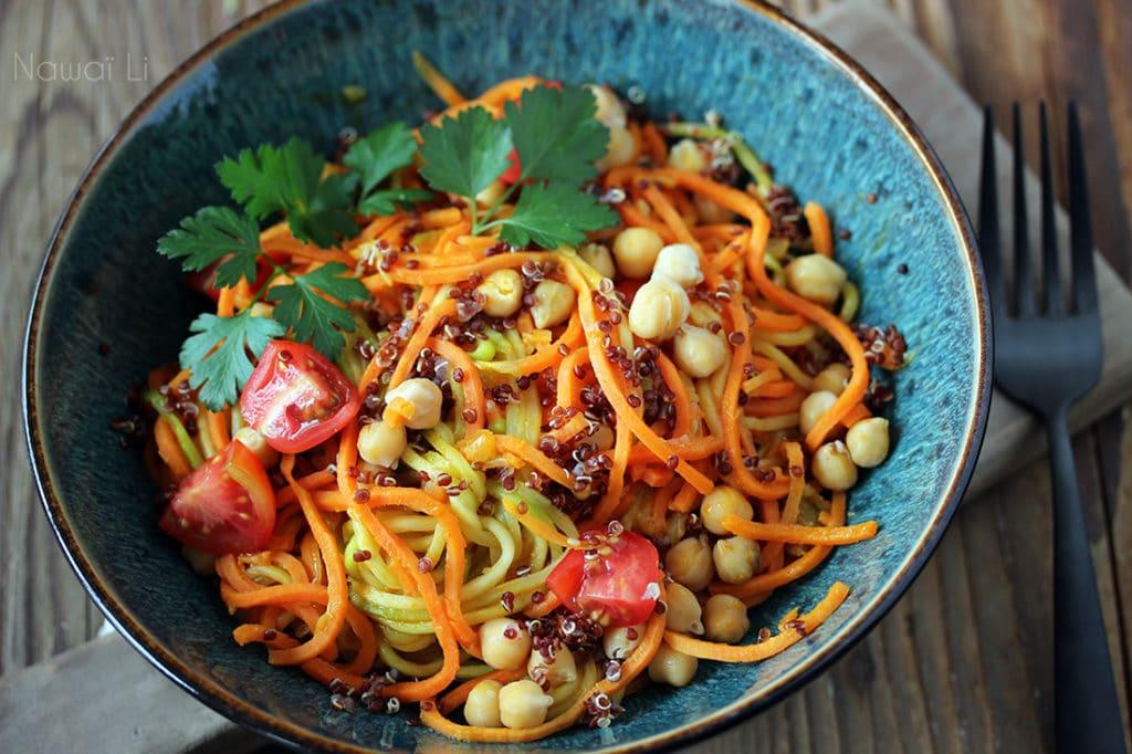 patate douce courgette quinoa vegan