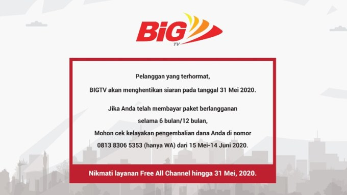 BigTV Off Air