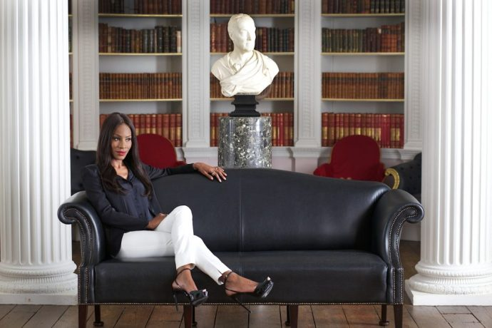 © Hazel Thompson for The New York Times Date: 16th April 2014 Caption: Portrait of Amma Asante, the film Director of Belle movie, in the library with a bust sculpture of the 1st Earl of Mansfield behind, inside Kenwood House, the home of Dido Elizabeth Belle which the film is based on.
