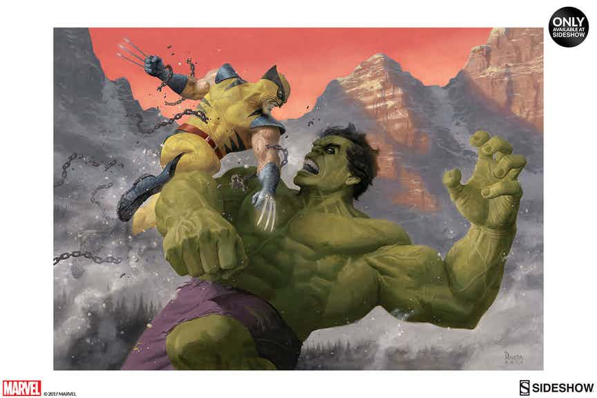 Wolverine and Hulk Clash in New Print by Paolo Rivera