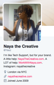 Your twitter bio should definitely be in you brand toollkit