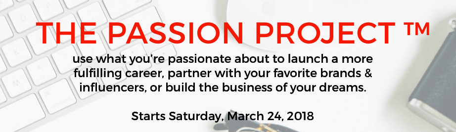 The Passion Project™ banner 1