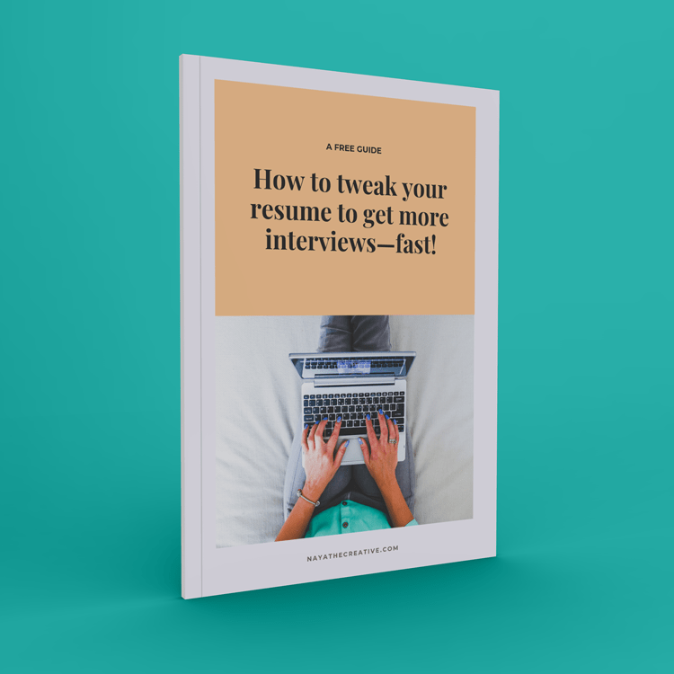 Resume guide book cover