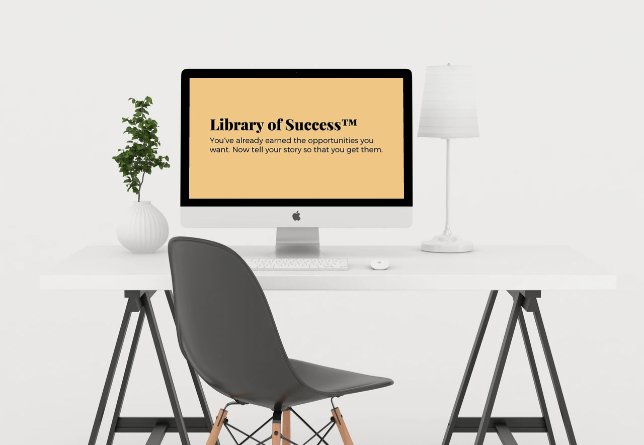 Library of Success™ Training Screen