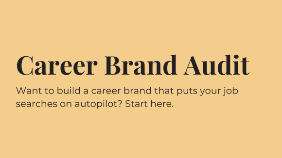 Career Brand Audit Header