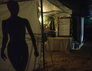 silhouette at Nayeli Clothing booth