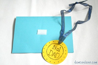 No 1 dad medal