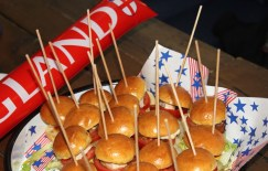 Food (Sliders) Served at England v Wales at Euro 2016 - Mini Burgers