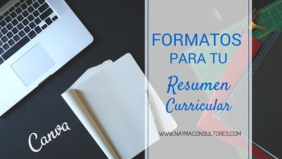 Formatos Resumen Curricular