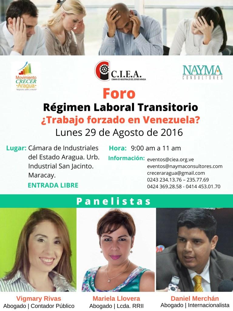 Foro Régimen Laboral Transitorio 29082016