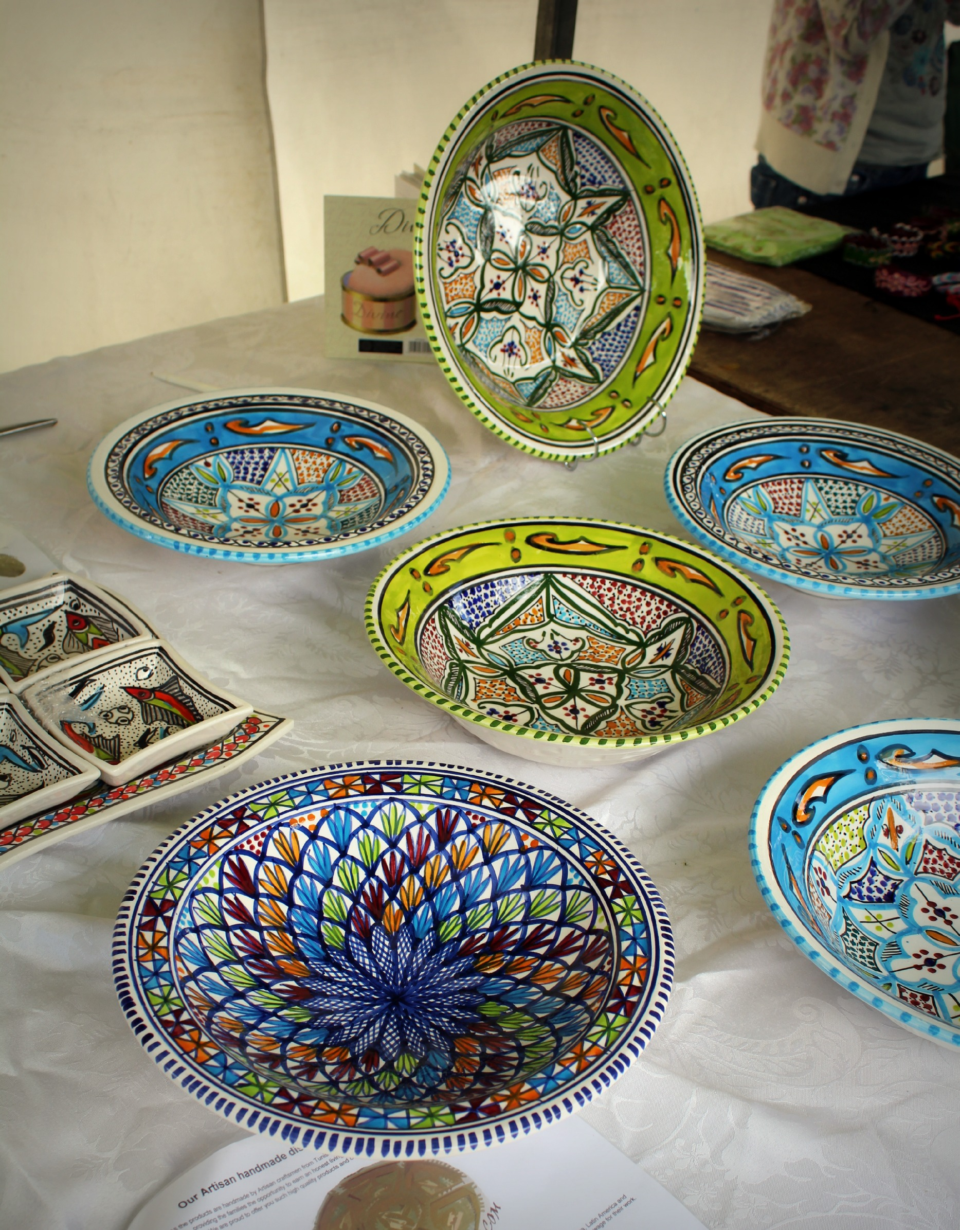 Tunisian Pottery In Stratford Upon Avon NAZAR BLUE